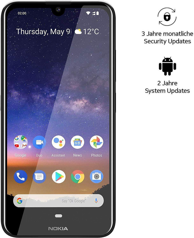 Nokia 2.2 Dual Handy schwarz Smartphone14,5cm 5,7 Zoll Android 9 2GB 16GB T0011