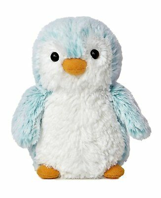Aurora World PomPom Penguin Bright Blue Plush Small 6""