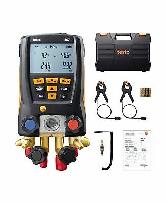Testo 557 Refrigeration Digital Manifold Kit 0563 1557 Included Clamp Probes