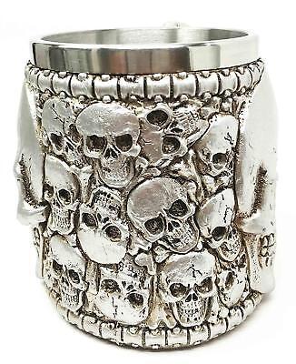 Graveyard Skull Heap Death Mountain Beer Stein Tankard Coffee Cup -