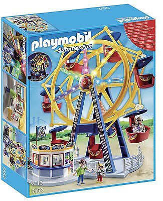 PLAYMOBIL 5552 Ferris Wheel with Lights Set Ages 4+ New Toy Carnival Play Boys