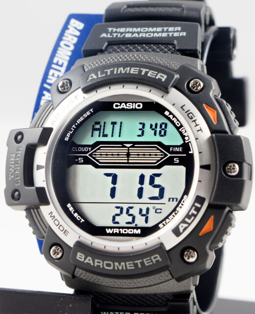 Casio SGW-300H-1A Watch Altimeter Thermometer World Time Resin Band New