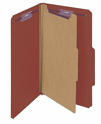 New Smead Pressboard Classification 1 File Folder With Fasteners Legal Size Red