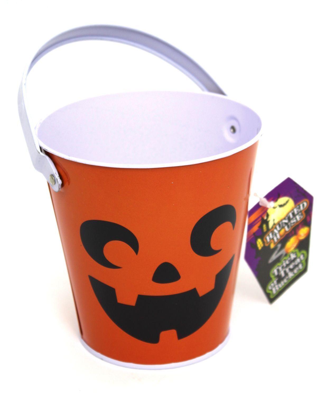 Halloween Candy Metal Bucket With Handle