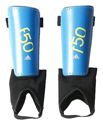 adidas Performance F50 Youth Shin Guards Solar Blue/Semi Solar Yellow, Large