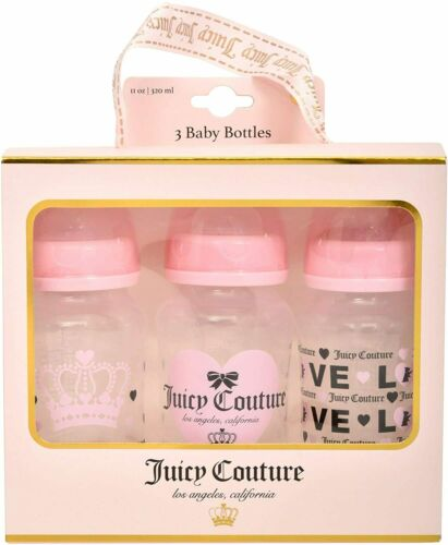 3 Pack 11oz Baby Bottle Set in Gift Package- Newborn and Infant Bottles BPA Free