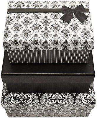 Alef Elegant Decorative Themed Nesting Gift Boxes -3 Boxes- Nesting Boxes Themed