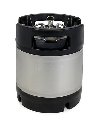 New Kegco 1.75 Gallon Home Brew Ball Lock Keg With Rubber Handle