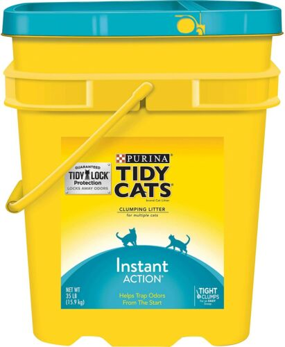 Purina Tidy Cats Instant Action Clumping Cat Litter , 35-lb Pail
