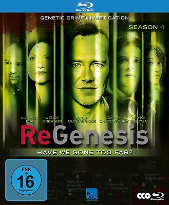 REGENESIS - SEASON 4  Peter Outerbridge 3 BLU-RAY COLLECTION NEU