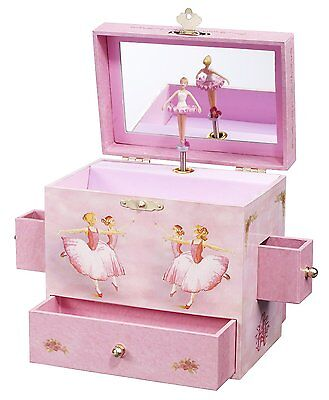Music Treasure Box - Ballerina Treasure Music Box Plays Swan Lake Dancing Figurine Inside Mirror New