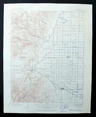 Del Norte Colorado Vintage USGS Topo Map 1915 Monte Vista Center Topographical