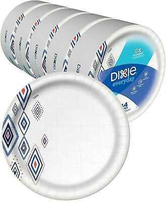 """Bulk Paper Plates Recyclable 10"""" Heavy Duty Coated Nice Strong Holiday 220 Count"""