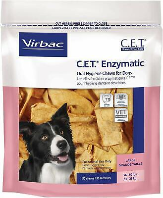 C.E.T. Enzymatic Oral Hygiene Chews for Large Dogs 26-50 Pounds Virbac (Virbac Enzymatic Oral Hygiene Chews For Dogs)