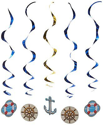 Cruise Ship Whirls Nautical Boating Bon Voyage Party Hanging Decorations 5 Pc](Cruise Ship Decorations)