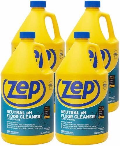 Zep Neutral pH Floor Cleaner Concentrate 128 Ounces (Case of 4) ZUNEUT128