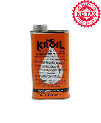 Kroil Penetrating Oil Creeps And Loosens Frozen Metal Parts 8 Oz. Liquid