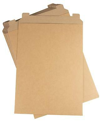 Brown Cardboard Envelopes Stay Flat Photo Mailers 6 X 6 W Tear Tab-28pt 1600