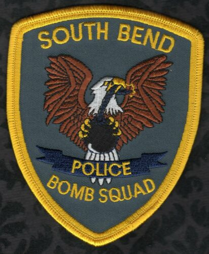 👀😜😊👍   South Bend Indiana Police Shoulder Patch  Bomb Squad
