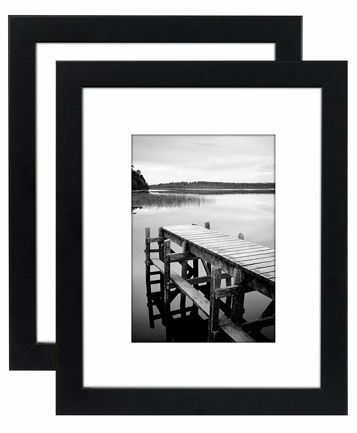 2-Pack, 8x10 Black Picture Frames - Made to Display Pictures