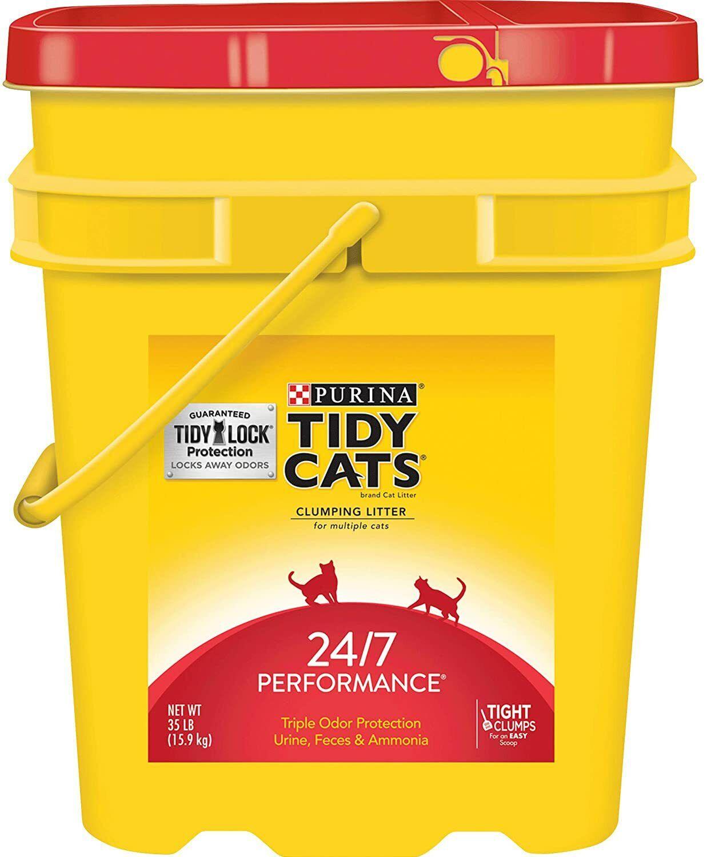Purina Tidy Cats 35 lb. Pail 24/7 Performance Clumping Multi