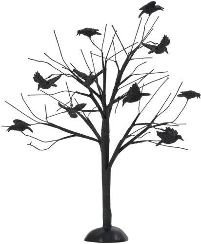 Dept 56 Halloween Village MURDER OF CROWS TREE 4047628 DEALER STOCK NEW IN BOX
