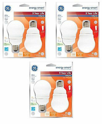 GE Energy Smart CFL 11-Watt 450-Lumen A17 Light Bulb with Medium Base (6 Pack) ()