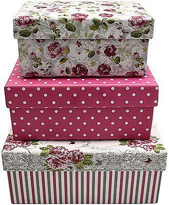 Alef Elegant Decorative Themed Nesting Gift Boxes -3 Boxes Beautifully Decorated