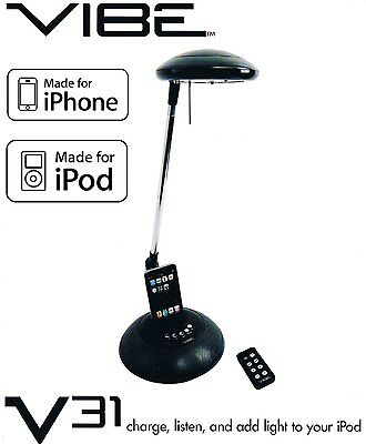 Vibe V31 iPod iPhone MP3 Player 20w RMS Speaker Audio Dock + Charger + Lamp