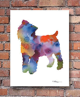 BRUSSELS GRIFFON Contemporary Watercolor ART Print by Artist DJR