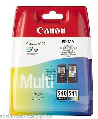 Original Canon PG540 & CL541 black/Colour Ink Cartridge For PIXMA MG3250 VAT INC
