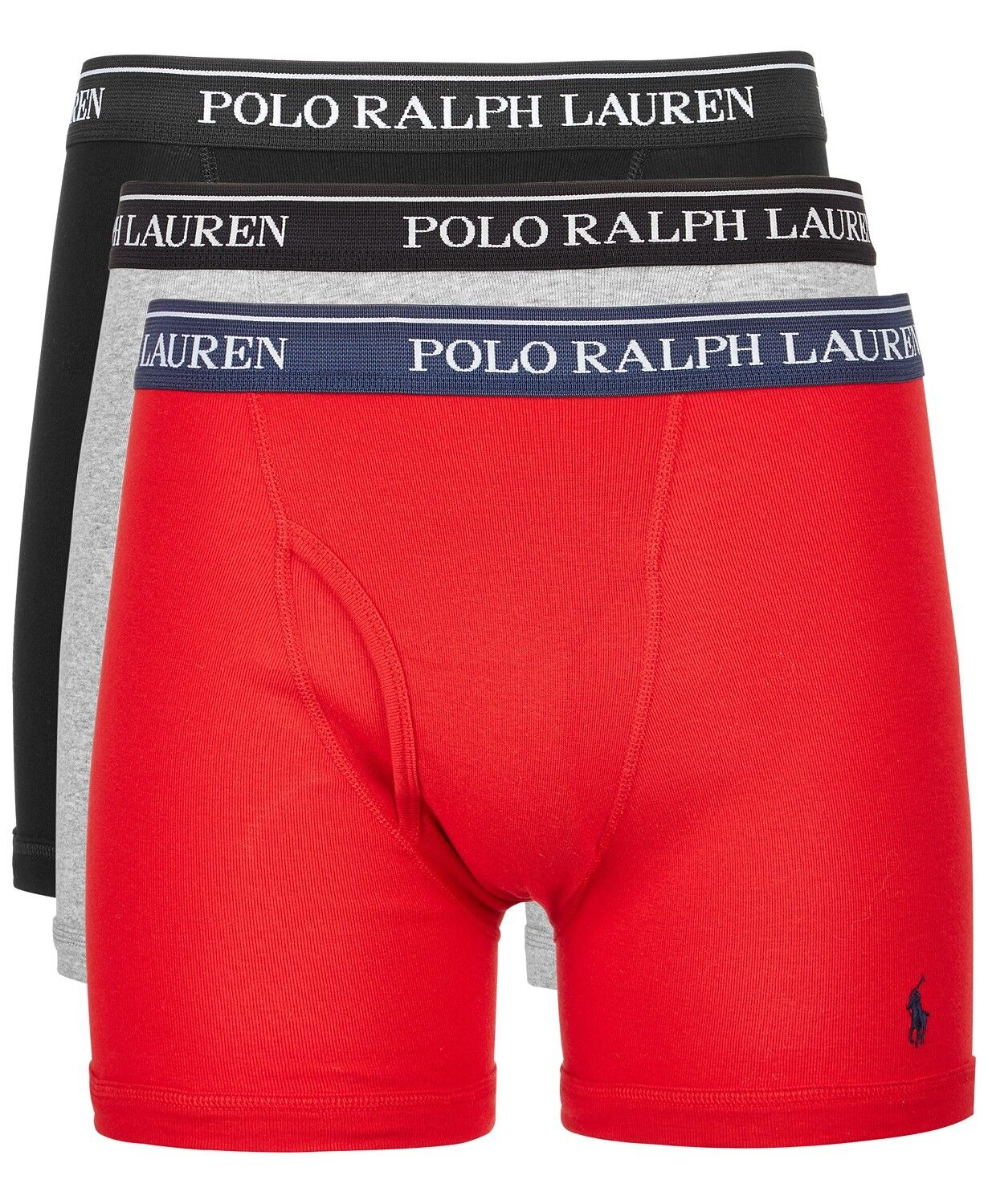 Polo Ralph Lauren Classic Cotton Three Pack Boxer Briefs Bla
