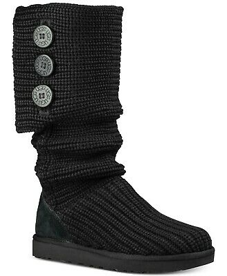 Ugg Women's Classic Knit Cardy Boots Size 6 Black 1016555