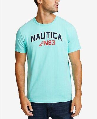 NewNautica Men's Big Wave Graphic T-Shirt Medium Aqua $35 MM21