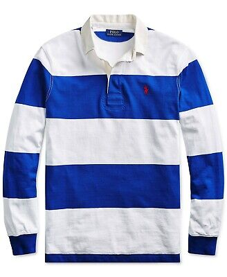 Polo Ralph Lauren Men's Stripe Iconic Rugby Classic Fit -