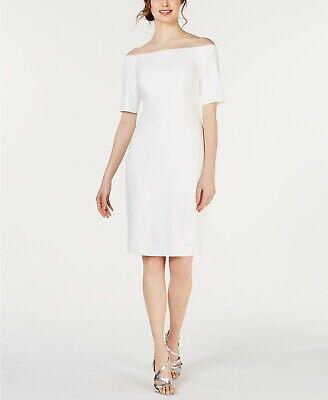 Calvin Klein Women's Off The Shoulder Crepe Dress Size 12 MSRP $159.00