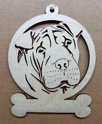 Shar Pei dog ornament wooden Christmas Gift D-76