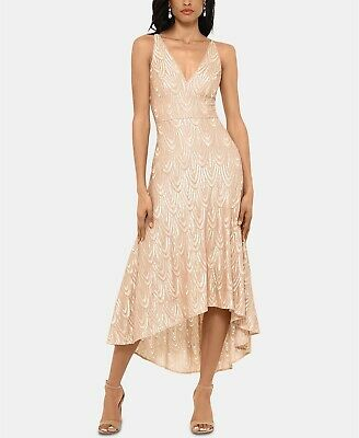 Betsy & Adam Sequined Midi Dress MSRP $279 Size 6 # 3B 1006 Blm