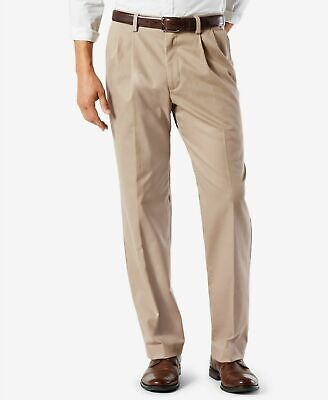 Dockers Easy Khaki Pants Classic Fit Stretch Comfort Waist Pleated Timberwolf Classic Fit Pleated Khaki