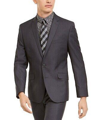 $300 Billy London Men's Slim-Fit Performance Stretch Suit Jacket 40R Dark Grey