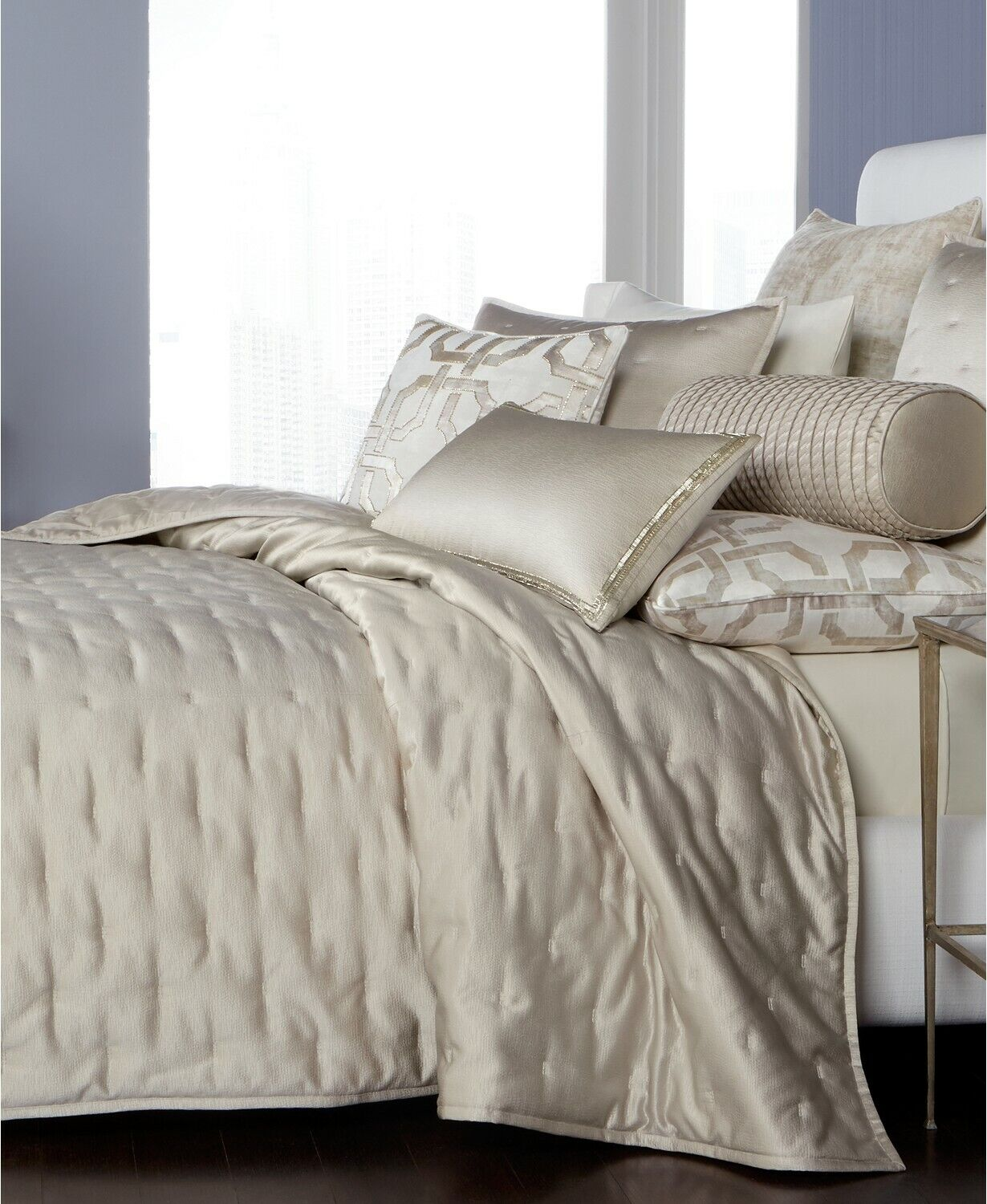 Hotel Collection Fresco Quilted Full Queen Coverlet with Gli