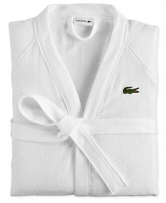 NWT Lacoste Home Pique Bath Robe White