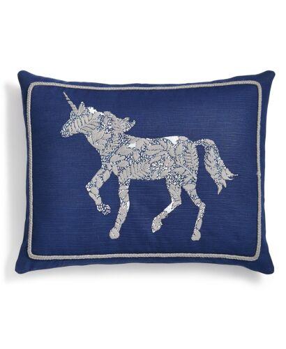 "Whim by Martha Stewart Collection Unicorn 16"" x 20"" Cotton Decorative Pillow"