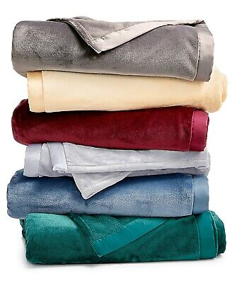 Berkshire TWIN Blanket Classic Velvety Plush Grey T93181 Classic Plush Twin Blankets