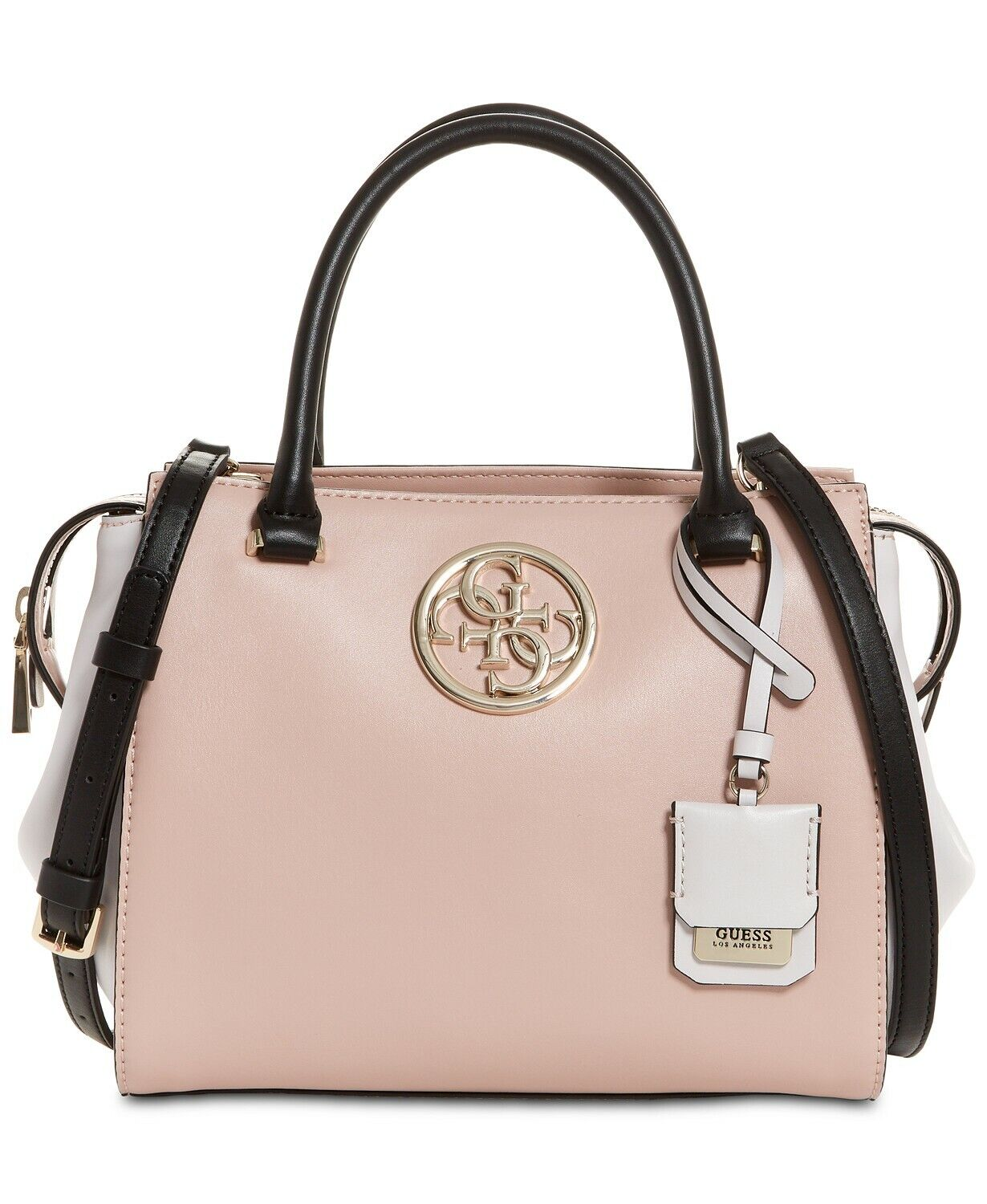 Guess Women's Ryann Lux Nude Multi Satchel Handbag