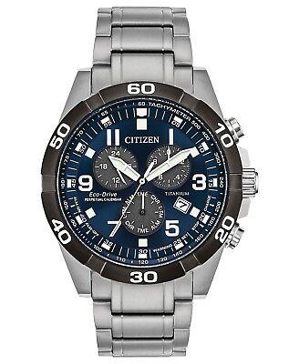 Citizen Eco-Drive Chronograph Perpetual Calendar Titanium Men's Watch BL5558-58L