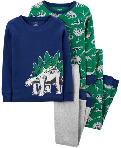New Carters Boys 4-Piece Dinosaur Snug Fit Cotton Pajama Set 6 7 8 10