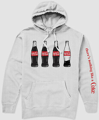 $141 New Coca-Cola Bottle Men's Pullover Hoodie Sweatshirt White Size S