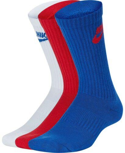 New Nike Big Boys Youth Everyday Cushioned Crew Socks 3 Pack Size Medium