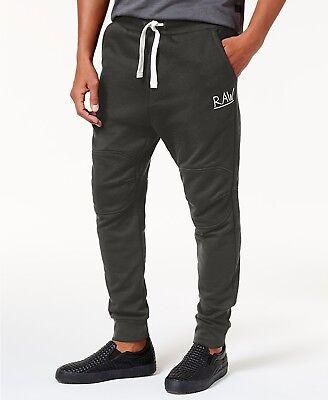 G-Star Raw Men's Asphalt Green Drawstring Jogger 3D Tapered Fit Pants